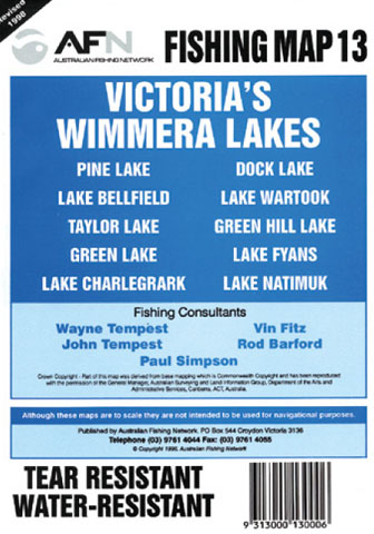 Wimmera Lakes Fishing Map 13 AFN